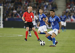June 1, 2018 - Nice, Italy - Lorenzo Pellegrini during the friendly match between France and Italy, in Nice, on June 1, 2018  (Credit Image: © Loris Roselli/NurPhoto via ZUMA Press)