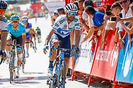 Alejandro Valverde (ESP - Movistar)during the UCI World Tour, Tour of Spain (Vuelta) 2018, Stage 7, Puerto Lumbreras - Pozo Alcon 185,7 km in Spain, on August 31th, 2018 - Photo Luca Bettini / BettiniPhoto / ProSportsImages / DPPI