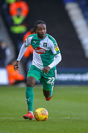 Plymouth Argyle defender Tafari Moore (22) on the ball during the EFL Sky Bet League 1 match between Luton Town and Plymouth Argyle at Kenilworth Road, Luton, England on 17 November 2018.