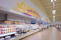 Interior view of the Giant Grocery Store at Timonium Square Shopping Center built by Mullan Contracting Company