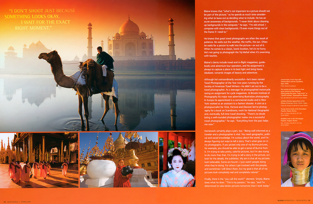 Blaine Harrington portfolio feature in Nikon World Magazine