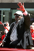 Tony Gwynn at the Major League Baseball All-Stars and 49 Hall of Famers ride up Sixth Avenue in All Star-Game Red Carpet Parade Presented by Chevy on July 15, 2008