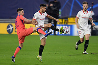 SEVILLE, SPAIN - DECEMBER 02: Oscar Rodriguez of FC Sevilla and Jorginho of Chelsea FC during the UEFA Champions League Group E stage match between FC Sevilla and Chelsea FC at Estadio Ramon Sanchez-Pizjuan on December 2, 2020 in Seville, Spain. (Photo by Juan Jose Ubeda/MB Media)