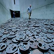 Jewish museum berlin memory faces, Berlin, Germany (June 2007)
