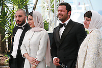 Actor Navid Mohammadzadeh, actress Sareh Bayat, actor Pejman Bazeghi and director Ida Panahandeh at the Nahid film photo call at the 68th Cannes Film Festival Sunday May 17th 2015, Cannes, France.