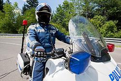 Policeman during 2nd Stage Kocevje - Visnja Gora (168,5 km) at 20th Tour de Slovenie 2013, on June 14, 2013, Slovenia. (Photo by Urban Urbanc / Sportida.com)