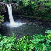 Lovely Rainbow Falls in Hilo, on the Big Island, Hawaii.