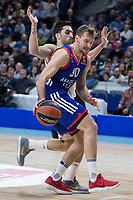 Real Madrid Facundo Campazzo and Anadolu Efes Zoran Dragic during Turkish Airlines Euroleague match between Real Madrid and Anadolu Efes at Wizink Center in Madrid, Spain. January 25, 2018. (ALTERPHOTOS/Borja B.Hojas)