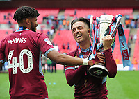 Football - 2018 / 2019 EFL Sky Bet Championship Play-Off Final - Aston Villa vs. Derby County<br /> <br /> Jack Grealish and Tyrone Mings of Aston Villa with the trophy, at Wembley Stadium.<br /> <br /> COLORSPORT/ANDREW COWIE