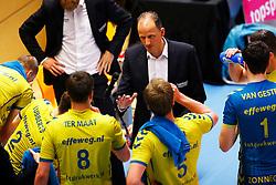 20150426 NED: Eredivisie Landstede Volleybal - Abiant Lycurgus, Zwolle<br />Redbad Strikwerda, headcoach of Landstede Volleybal <br />©2015-FotoHoogendoorn.nl / Pim Waslander