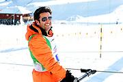 André Roger Weiss, Teilnehmer beim Renzo's Schneeplausch vom 23. Januar 2016 in Vella, Gemeinde Lumnezia.