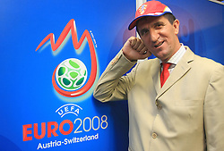 Mate Loncar is Croatian fan who don`t miss a single game of his favorite team for almost 30 years. He is also fan of other Croatian athletes. The picture was taken after the victory of Croatia vs Austria at EURO 2008, on June 8,2008, in Wien, Austria. (Photo by Vid Ponikvar / Sportal Images)