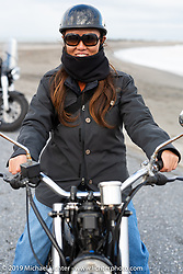 Akari Uno on her Yamaha SR 400 on the SureShot ride around Chiba, Japan. Saturday, December 8, 2018. Photography ©2018 Michael Lichter.