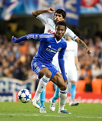 28.09.2010, Stamford Bridge, London, ENG, UEFA Champions League, Chelsea vs Olympique Marseille, im Bild Chelsea's Ghanaian footballer Michael Essien with Marseilles Lucho Gonzalez, 28/09/2010. EXPA Pictures © 2010, PhotoCredit: EXPA/ IPS/ Mark Greenwood +++++ ATTENTION - OUT OF ENGLAND/UK +++++