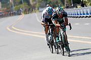 Peter Kennaugh (GBR - Bora - Hansgrohe), Gianni Moscon (ITA - Team Sky) during the Tour of Guangxi 2018, stage 1, Beihai - Beihai 107,4 km on October 16, 2018 in Beihai, China - Photo Luca Bettini / BettiniPhoto / ProSportsImages / DPPI