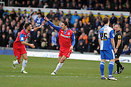 Gillingham's Chris Whelpdale © celebrates after he scores the 1st goal. NPower league two match, Bristol Rovers v Gillingham at the Memorial stadium in Bristol on Saturday 5th Jan 2013. pic by Andrew Orchard, Andrew Orchard sports photography,