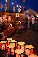 Obon celebrations ends with Toro Nagashi or the floating of lanterns. Paper lanterns are illuminated and then floated down rivers or on the ocean or lakes symbolically signaling the ancestral spirits' return to the world of the dead.