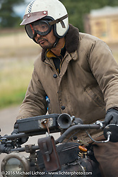 Yoshimasa Niimi of Japan riding his Team-80 Chabott Engineering 1915 Indian twin during the Motorcycle Cannonball Race of the Century. Stage-10 ride from Pueblo, CO to Durango, CO. USA. Tuesday September 20, 2016. Photography ©2016 Michael Lichter.