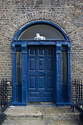 Old Georgian doorway on Dublin's Hendrick Street..