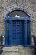 Old Georgian doorway on Dublin's Hendrick Street..