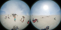 360 photo of art on playa.