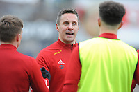 Sheffield United's Phil Jagielka chats to his team mates during the pre-match warm-up <br /> <br /> Photographer Ian Cook/CameraSport<br /> <br /> The Emirates FA Cup Third Round - Bristol Rovers v Sheffield United - Saturday 9th January 2021 - Memorial Stadium - Bristol<br />  <br /> World Copyright © 2021 CameraSport. All rights reserved. 43 Linden Ave. Countesthorpe. Leicester. England. LE8 5PG - Tel: +44 (0) 116 277 4147 - admin@camerasport.com - www.camerasport.com