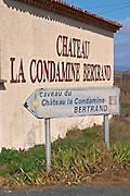 Chateau la Condamine Bertrand. Pezenas region. Languedoc. France. Europe.