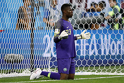 Nigeria goalkeeper Francis Uzoho during the 2018 FIFA World Cup Russia group  D match between Nigeria and Argentina at the Saint Petersburg Stadium on June 26, 2018 in Saint Petersburg, Russia