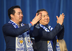 Leicester City chairman Vichai Srivaddhanaprabha and vice-chairman Aiyawatt Srivaddhanaprabha (L) - Mandatory by-line: Jack Phillips/JMP - 16/05/2016 - FOOTBALL - Leicester City FC, Sky Bet Premier League Winners 2016 - Leicester City Victory Parade