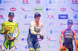 Kristijan Koren of Cannondalle, winner Michael Matthews of Orica GreenEdge and third placed Diego Ulissi of Lampre-Merida during Stage 1 of 21st Tour of Slovenia 2014 - Time Trial 8,8 km cycling race in Ljubljana, on June 19, 2014 in Slovenia. Photo By Vid Ponikvar / Sportida