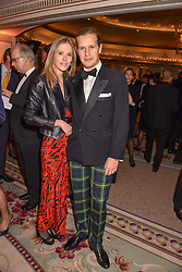 The Earl of March and Eléonore Decaux at The Cartier Racing Awards 2018 held at The Dorchester, Park Lane, England. 13 November 2018. <br /> <br /> ***For fees please contact us prior to publication***