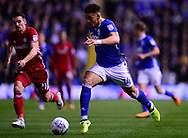 Che Adams of Birmingham in action.EFL Skybet championship match, Birmingham city v Cardiff city at St.Andrew's stadium in Birmingham, the Midlands on Friday 13th October 2017.<br /> pic by Bradley Collyer, Andrew Orchard sports photography.