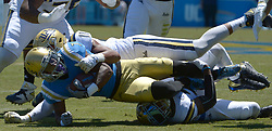April 29, 2017 - Los Angeles, California, U.S. - UCLA Bruins Darren Andrews (7) during the UCLA football Spring Showcase on Saturday, April 29, 2017 in Los Angeles. (Photo by Keith Birmingham, Pasadena Star-News/SCNG) (Credit Image: © San Gabriel Valley Tribune via ZUMA Wire)
