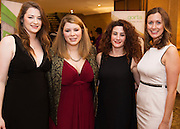 Grace Kennedy, Meadbh MacCarthy,Lorenza Quadrini and Sarah O'Toole, all GSHA at the Gorta Self Help Africa Annual Ball in Hotel Meyrick Galway City. Photo: Andrew Downes, XPOSURE.