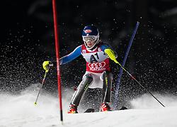 15.01.2013, Hermann Maier Weltcupstrecke, Flachau, AUT, FIS Weltcup Ski Alpin, Slalom, Damen, 1. Lauf, im Bild Mikaela Shiffrin (USA) // Mikaela Shiffrin of the USA in action during 1st run of the ladies Slalom of the FIS Ski Alpine World Cup at the Hermann Maier World Cup trackside, Flachau, Austria on 2013/01/15. EXPA Pictures © 2013, PhotoCredit: EXPA/ Johann Groder