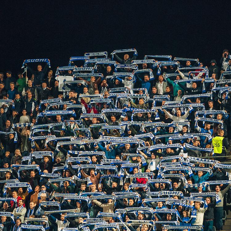 Pohjoiskaarre ennen MM2018-karsintaottelun Suomi - Kosovo alkua. Veritas stadion, Turku, Suomi. 5.9.2016.