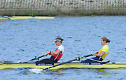 Reading. United Kingdom. GBR W2-, Bow Helen GLOVER and Heather STANNING, morning time trial, Redgrave and Pinsent Rowing Lake. Caversham.<br /> <br /> 10:42:57  Saturday  19/04/2014<br /> <br />  [Mandatory Credit: Peter Spurrier/Intersport<br /> Images]