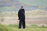 Golfing Union of Ireland referree on the 17th during Round 3 of the Ulster Boys Championship at Donegal Golf Club, Murvagh, Donegal, Co Donegal on Friday 26th April 2019.<br /> Picture:  Thos Caffrey / www.golffile.ie