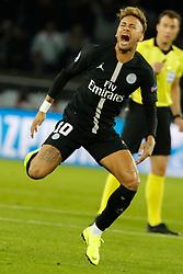 PSG's Neymar during the Group stage of the Champion's League, Paris-St-Germain vs Napoli in Parc des Princes, Paris, France, on October 24th, 2018. PSG and Napoli drew 2-2. Photo by Henri Szwarc/ABACAPRESS.COM