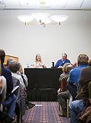 WKOW-TV reporter Emilee Fannon and Charles Fannon speak during the Cap Times Idea Fest 2018 at the Pyle Center in Madison, Wisconsin, Saturday, Sept. 29, 2018.