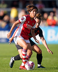 Arsenal Women's Mana Iwabuchi in action during the FA Women's Super League match at Meadow Park, Borehamwood. Picture date: Sunday October 10, 2021.