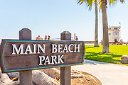 Main Beach Park Sign