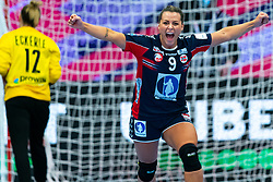 Nora Mork of Norway celebrate during the Women's EHF Euro 2020 match between Germany and Norway at Sydbank Arena on december 05, 2020 in Kolding, Denmark (Photo by RHF Agency/Ronald Hoogendoorn)