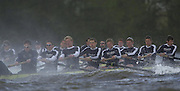 © Peter Spurrier / Intersport images.email images@Intersport.co.uk - Tel +44 208 876 8611.2003 - Rowing - 149th Varsity Boat Race - Tideway Training Week - 02/04/03  - Photo Peter Spurrier. Oxford v Isis [Blue boat closest] - plough through the rough water during their afternoon training session. . Blue Boat crew Right to left Bow.John Adams, 2. Basil Dixon,  3. Sam McLennen, 4. Scott Frandsen, 5. Robin Bourne-Taylor, 6. David Livingston, 7. Henry Morris,  stroke Matt Smith president. cox  Acer Nethercott Varsity Boat Race Rowing Course: River Thames, Championship course, Putney to Mortlake 4.25 Miles [Mandatory Credit: Peter Spurrier; Intersport Images.] Rough, Choppy, Water, Conditions.