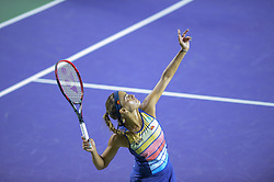 March 26, 2018 - Key Biscayne, FL, U.S. - KEY BISCAYNE, FL - MARCH 26: Monica Puig (PUR) in action at the 2018 Miami Open on March 24, 2018 at the Tennis Center at Crandon Park in Key Biscayne, FL. (Photo by Andrew Patron/Icon Sportswire) (Credit Image: © Andrew Patron/Icon SMI via ZUMA Press)