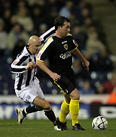 Photo: Rich Eaton.<br /> <br /> West Bromwich Albion v Cardiff City. Carling Cup. 25/09/2007. West Brom's Richard Chaplow (L) chases Cardiff's Robbie Fowler who scored 2 first half goals