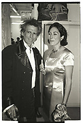 KEITH RICHARDS, GHISLAINE MAXWELL, NY Academy of Art benefit. Manhattan 1996