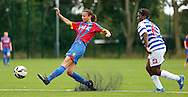 Alma Donohoe with a chance during the Pre-Season Friendly match between Crystal Palace LFC and Queens Park Rangers Ladies at the The Stadium, Bromley, United Kingdom on 19 July 2015. Photo by Michael Hulf.