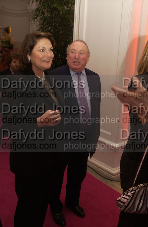 Mr. and Mrs. Anthony Oppenheimer. Cartier party to celebrate the Blooming of a precious jewel. the Orangery. Kensington Palace. London.  25 October 2005. October 2005. ONE TIME USE ONLY - DO NOT ARCHIVE © Copyright Photograph by Dafydd Jones 66 Stockwell Park Rd. London SW9 0DA Tel 020 7733 0108 www.dafjones.com