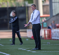 Raith Rovers manager Barry Smith. Airdrie 3 v 4 Raith Rovers, Scottish Football League Division One played 25/8/2018 at the Excelsior Stadium.